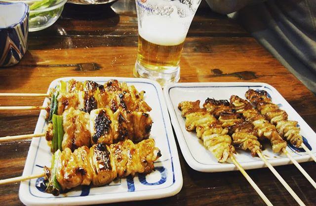 久しぶりの生ビール かわたれが大好き!#福山神辺#焼き鳥#かわたれ