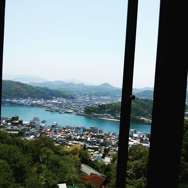 尾道 山頂のカフェから望む #福山神辺#おのみち #カフェ