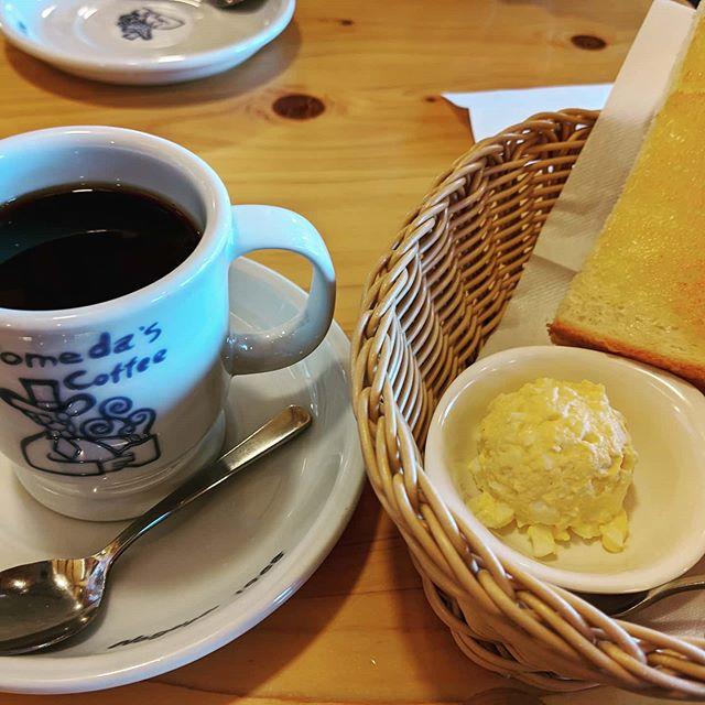 今朝はゆっくりコメダさんへ私はB夫はCそれからまたおかわりをCをお願いするその時はコーヒーは私 夫はパンよう食べる70代🧡#福山神辺 #コメダ#おかわりモーニング