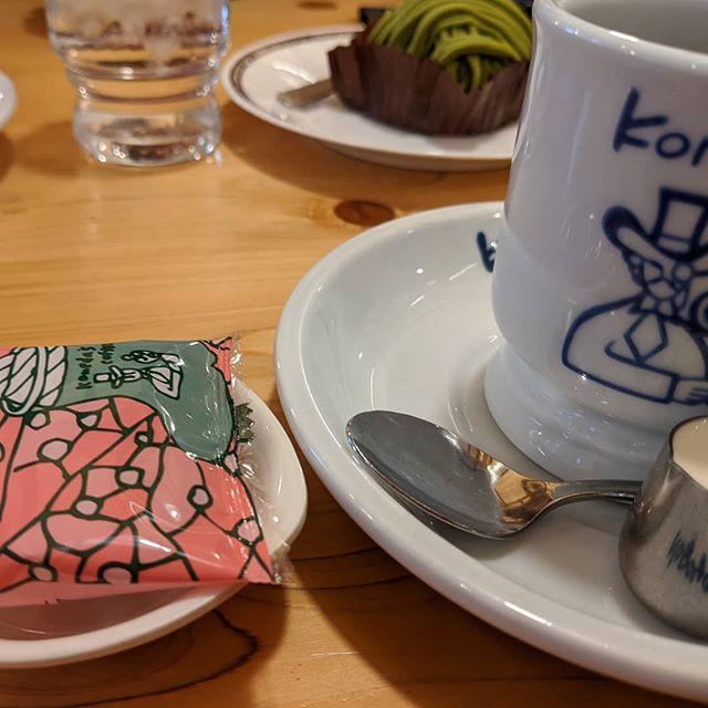 コメダへこのコーヒーを待っていたお豆さんのパッケージ春らしいね#福山神辺#コメダ駅家#春らしいね