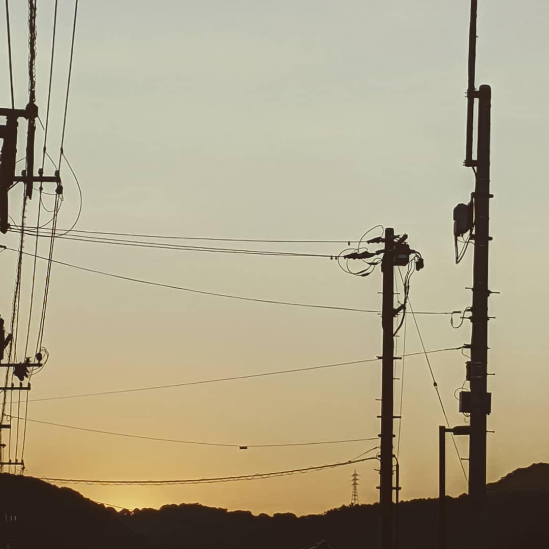 🌞AM5:50暑ーけど歩く太陽が出る準備猛暑になりそう#福山神辺 #太陽のお出まし #猛暑